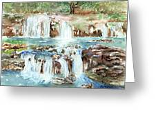 Many Waterfalls Greeting Card by Arline Wagner