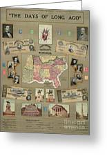 Map: Confederate States Greeting Card by Granger