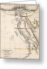 Map Of Aegyptus Antiqua Greeting Card by Sydney Hall