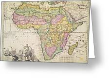 Map of Africa Greeting Card by Pieter Schenk