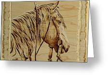 Maple Horse Greeting Card by Chris Wulff