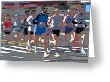 Marathon Runners I Greeting Card by Clarence Holmes