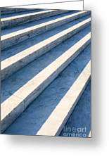 Marble Steps, Jefferson Memorial, Washington Dc, Usa, North America Greeting Card by Paul Edmondson