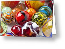 Marbles close up Greeting Card by Garry Gay