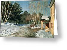 March Greeting Card by Isaak Ilyich Levitan