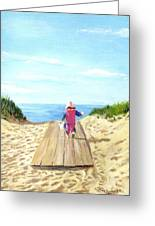 March To The Beach Greeting Card by Jack Skinner