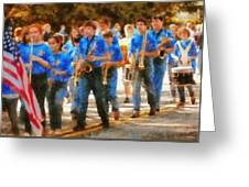 Marching Band - Junior Marching Band  Greeting Card by Mike Savad