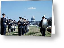 Marching Band At Capitol Greeting Card by Marilyn Hunt