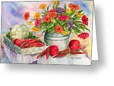 Margie's Veggies Greeting Card by Barbel Amos