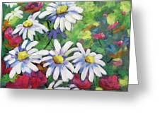 Marguerites 001 Greeting Card by Richard T Pranke