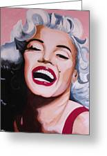 Marilyn Greeting Card by Jacqui Simpson
