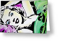 Marilyn Monroe Greeting Card by Brittany Prichard