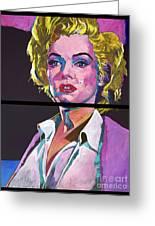 Marilyn Monroe Dyptich Greeting Card by David Lloyd Glover