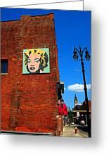 Marilyn Monroe In Detroit Greeting Card by Guy Ricketts