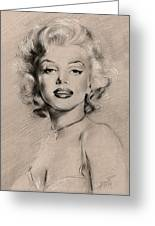 Marilyn Monroe Greeting Card by Ylli Haruni