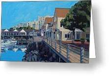 Marina Bay Greeting Card by Deb Putnam