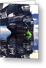 Mariner's Nightmare Greeting Card by Claude McCoy