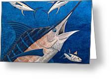Marlin And Ahi Greeting Card by Carol Lynne