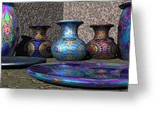 Marrakesh Open Air Market Greeting Card by Lyle Hatch