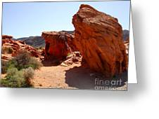 Martian Landscape Greeting Card by Silvie Kendall