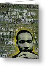 Martin Luther King Greeting Card by Tai Taeoalii
