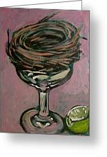 Martini Nest Greeting Card by Tilly Strauss