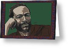 Marvin Gaye  Greeting Card by Suzanne Gee