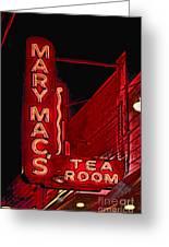 Mary Macs Resturant Atlanta Greeting Card by Corky Willis Atlanta Photography
