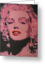 Marylin Monroe Greeting Card by Eric Dee