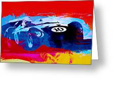 Maserati On The Race Track 1 Greeting Card by Naxart Studio