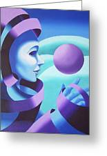 Mask In The Ether Greeting Card by Mark Webster