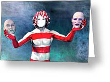 Masks Greeting Card by Carol and Mike Werner