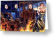 Masks Greeting Card by Ken Meyer jr