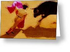 Matador Greeting Card by Joe Bonita