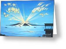 Maui Magic Greeting Card by Jerome Stumphauzer