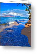 Maui Palms Greeting Card by James Roemmling