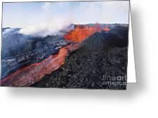 Mauna Loa Eruption Greeting Card by Joe Carini - Printscapes