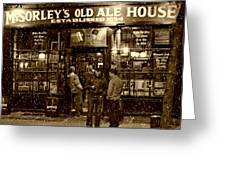 Mcsorley's Old Ale House Greeting Card by Randy Aveille