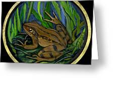 Meadow Frog Greeting Card by Anna Folkartanna Maciejewska-Dyba