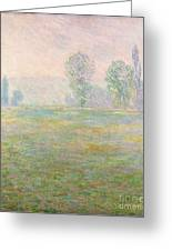 Meadows In Giverny Greeting Card by Claude Monet