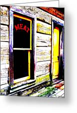 Meat Market Greeting Card by Ed Smith