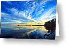 Meddybemps Reflections 4 Greeting Card by ABeautifulSky Photography