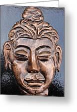 Meditating Buddha Greeting Card by Rajesh Chopra