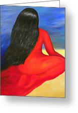 Meditation Moment Greeting Card by Fanny Diaz