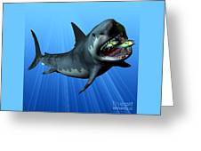Megalodon Greeting Card by Corey Ford