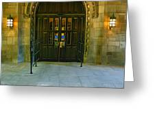 Memorial Hall I Greeting Card by Steven Ainsworth