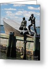 Memorial To Mariners Greeting Card by Tony Mills