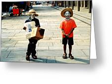 Memories Of A Better Time The Children Of New Orleans Greeting Card by Christine Till