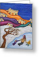 Memories On Ice Greeting Card by Anne Klar