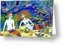 Mer Quarrel Greeting Card by Sushila Burgess